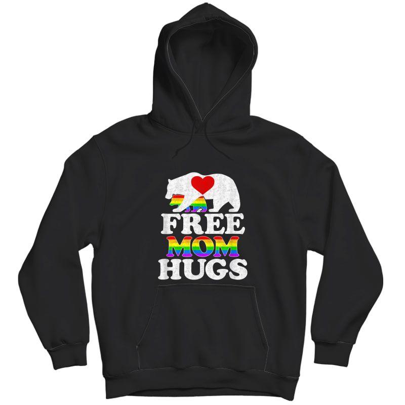 Free Mom Hugs Tshirt T-shirt Lgbt Pride Mama Bear Unisex Pullover Hoodie