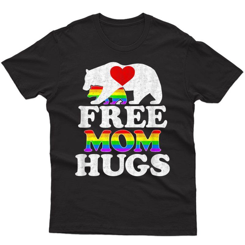 Free Mom Hugs Tshirt T-shirt Lgbt Pride Mama Bear