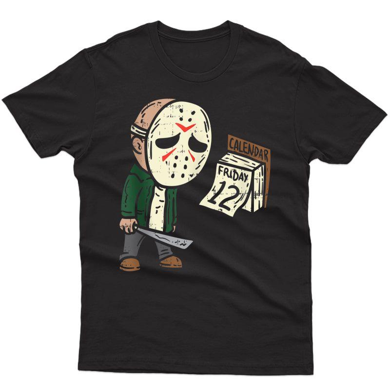 Friday 12th Funny Halloween Horror Movie Humor Tank Top Shirts