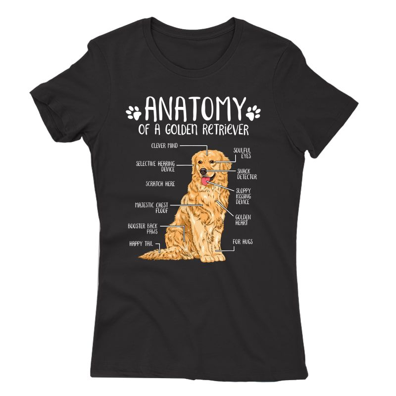 Funny Anatomy Golden Retriever Dog Lover Gift T-shirt