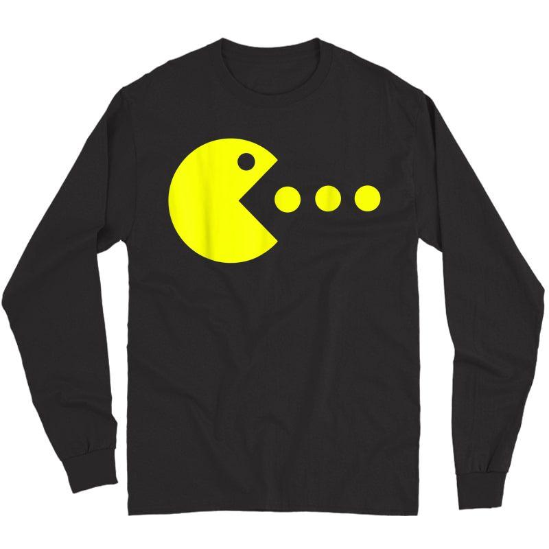 Funny Halloween Gaming Gamer   Retro Video Game T-shirt Long Sleeve T-shirt