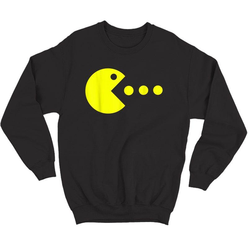 Funny Halloween Gaming Gamer   Retro Video Game T-shirt Crewneck Sweater