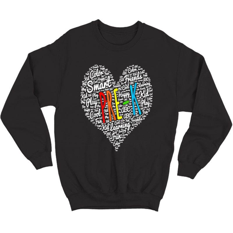 Funny I Love Pre-k Tea Shirt Pre-k Back To School Gifts T-shirt Crewneck Sweater