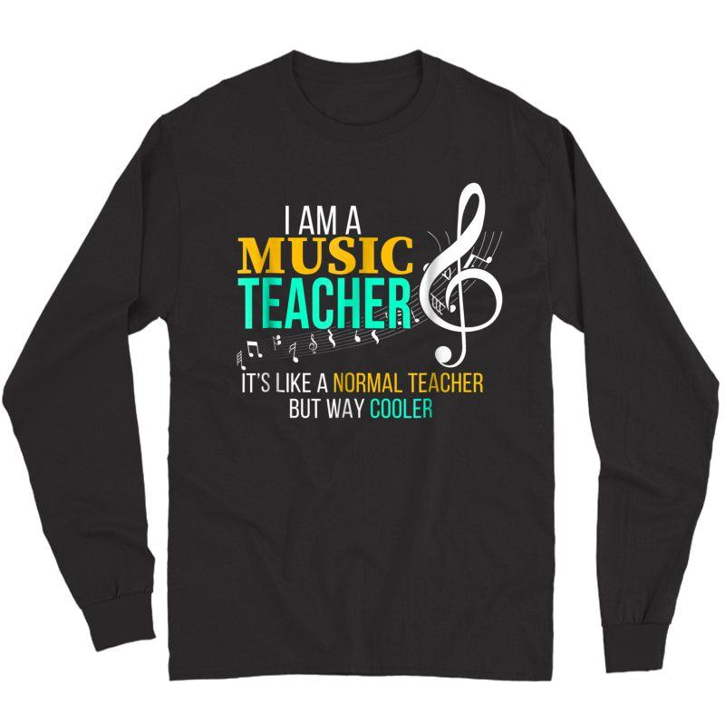 Funny Music Tea T Shirt Music Tea Cool Tea Gifts Long Sleeve T-shirt