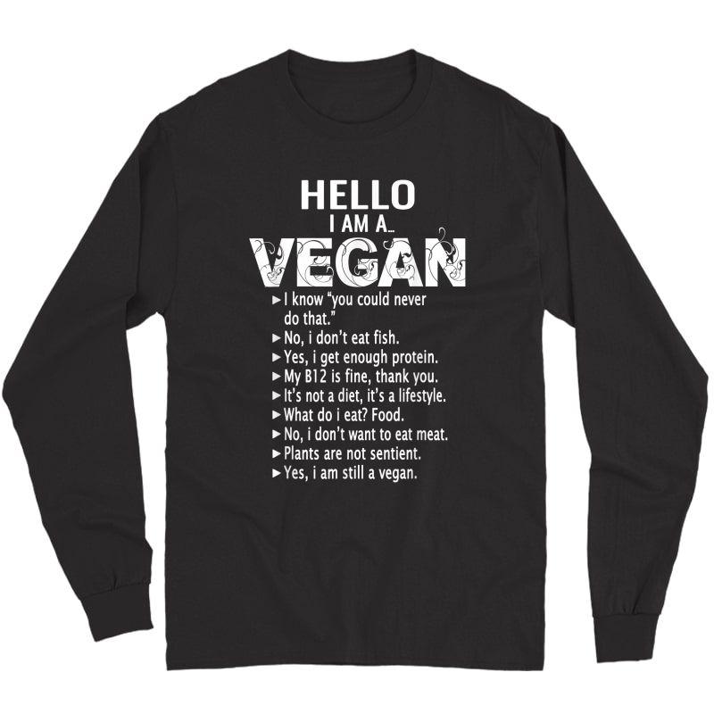 Funny Pro Vegan Activism Tshirt Gym Athlete Gift Christmas Long Sleeve T-shirt