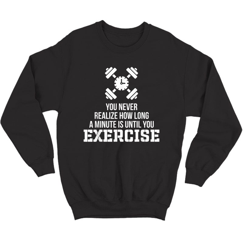 Funny Workout Quotes Nobody Cares Work Harder Gym Gifts T-shirt Crewneck Sweater