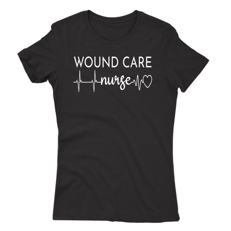 Funny Wound Care Nurse Ekg   Nursing Wound Ostomy Nurse Gift T-shirt