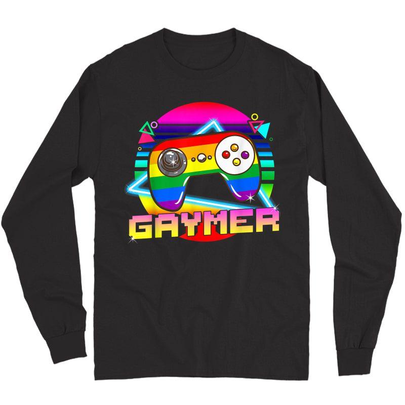 Gaymer T Shirt Lgbtq Gay Pride Month Gamer Gaming T-shirt Long Sleeve T-shirt