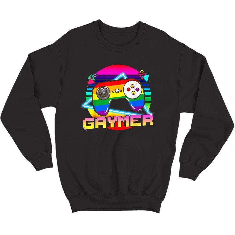 Gaymer T Shirt Lgbtq Gay Pride Month Gamer Gaming T-shirt Crewneck Sweater
