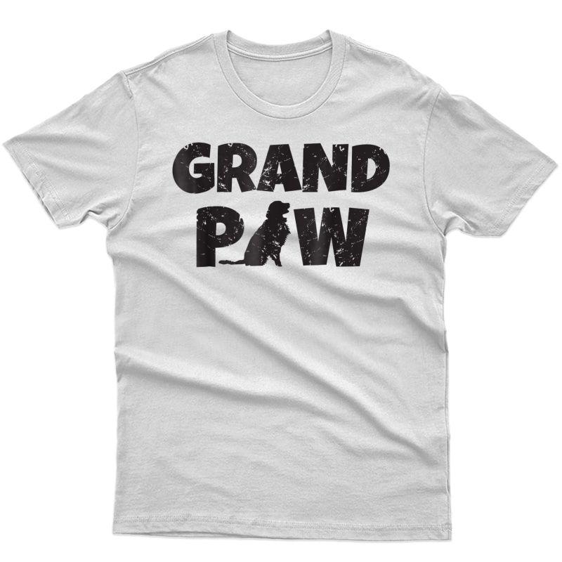 Golden Retriever Grandpa Grand Paw Shirt Dog Lover Grandpaw