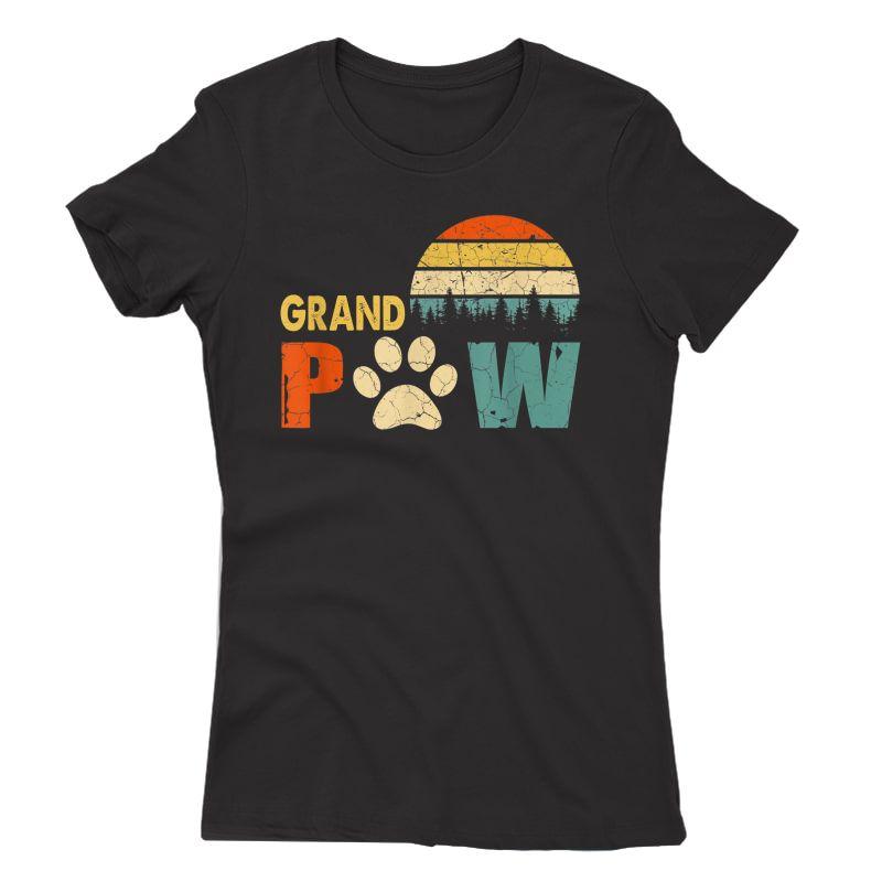 Grand Paw Dog Tshirt, Dog Lover Grandpaw Grandpa Gifts T-shirt