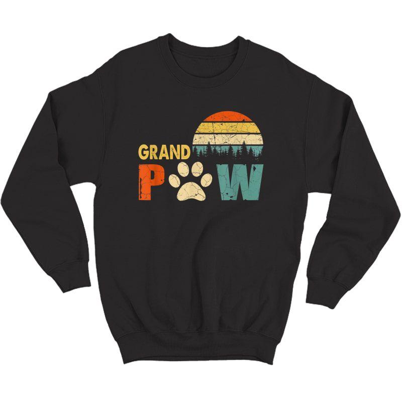 Grand Paw Dog Tshirt, Dog Lover Grandpaw Grandpa Gifts T-shirt Crewneck Sweater