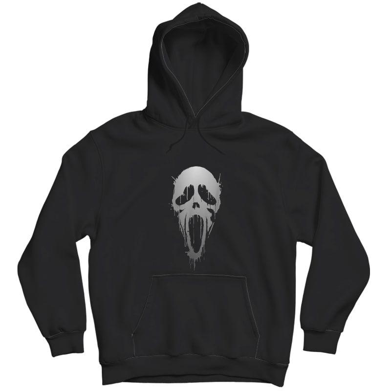 Halloween Scream Skull Ghost Horror T-shirt Unisex Pullover Hoodie