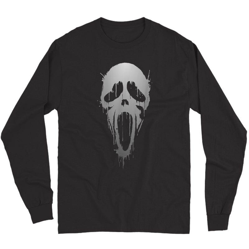 Halloween Scream Skull Ghost Horror T-shirt Long Sleeve T-shirt