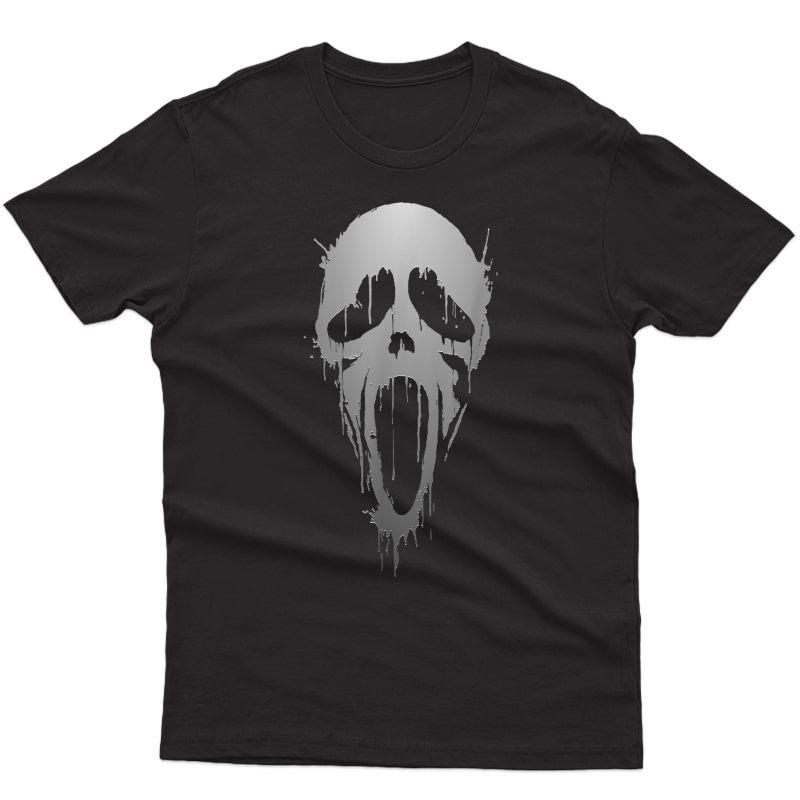 Halloween Scream Skull Ghost Horror T-shirt