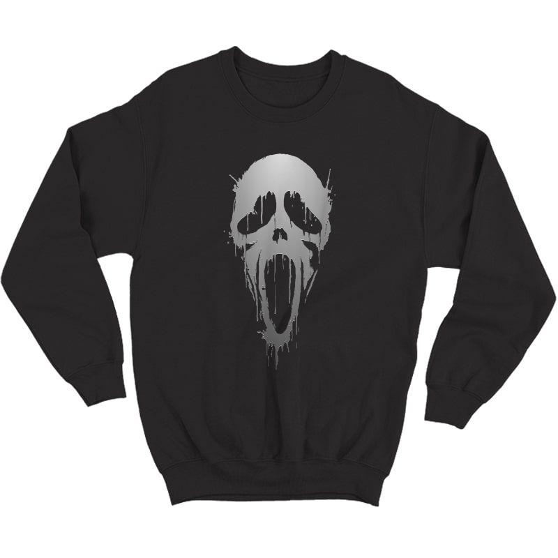 Halloween Scream Skull Ghost Horror T-shirt Crewneck Sweater