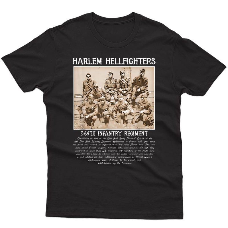 Harlem Hellfighters Vintage Black History Wwi Wwii Military T-shirt