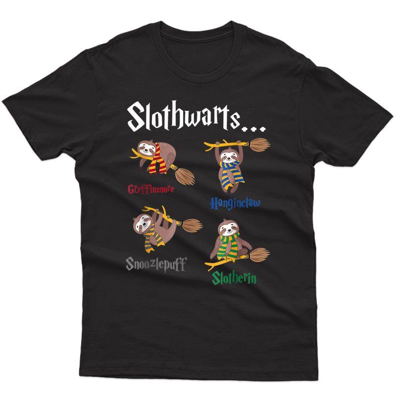 Harry Slothwarts-funny Birthday Gift Sloth T-shirt T-shirt