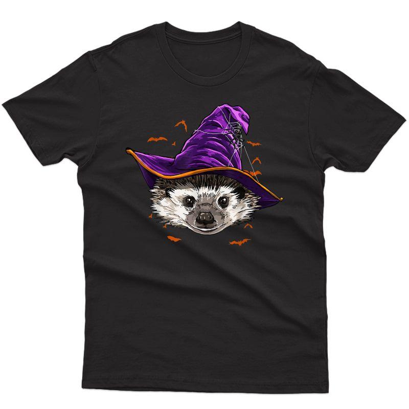 Hedgehog Witch Hat Funny Halloween Hedgehog Whisperer Gift T-shirt