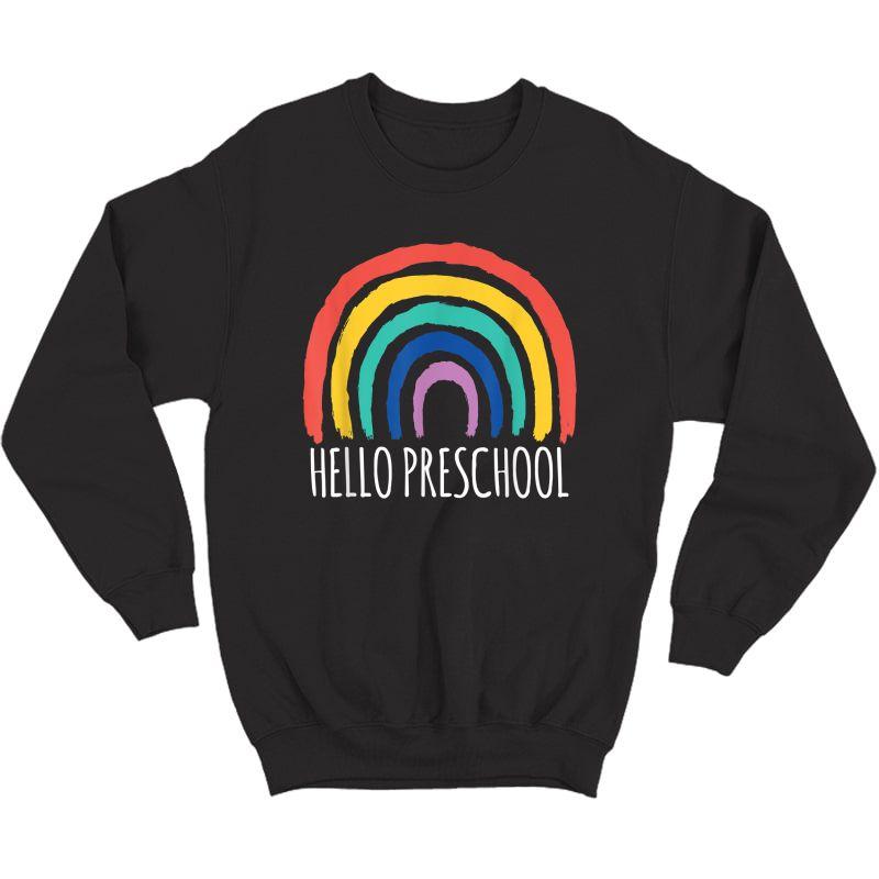 Hello Preschool Goodbye School Tea Pre-k Student T-shirt Crewneck Sweater