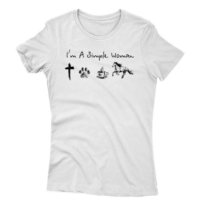 I'm A Simple Woman Jesus Dog Coffee Horse T-shirt