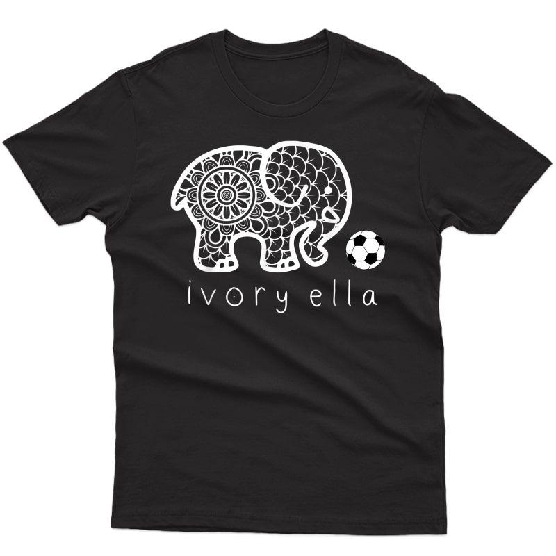 Ivory-ella-elephant-soccer T-shirt