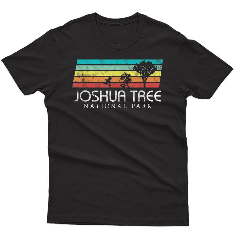 Joshua Tree California Vintage Retro Camping National Park T-shirt