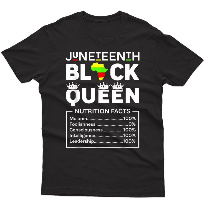 Black Queen Nutritional Facts Girls Mom T-shirt