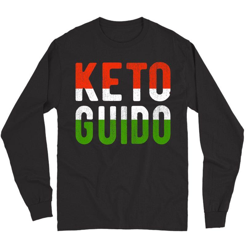 Keto Guido Italian Ness Weight Lifter Low Carb Diet Meme Premium T-shirt Long Sleeve T-shirt