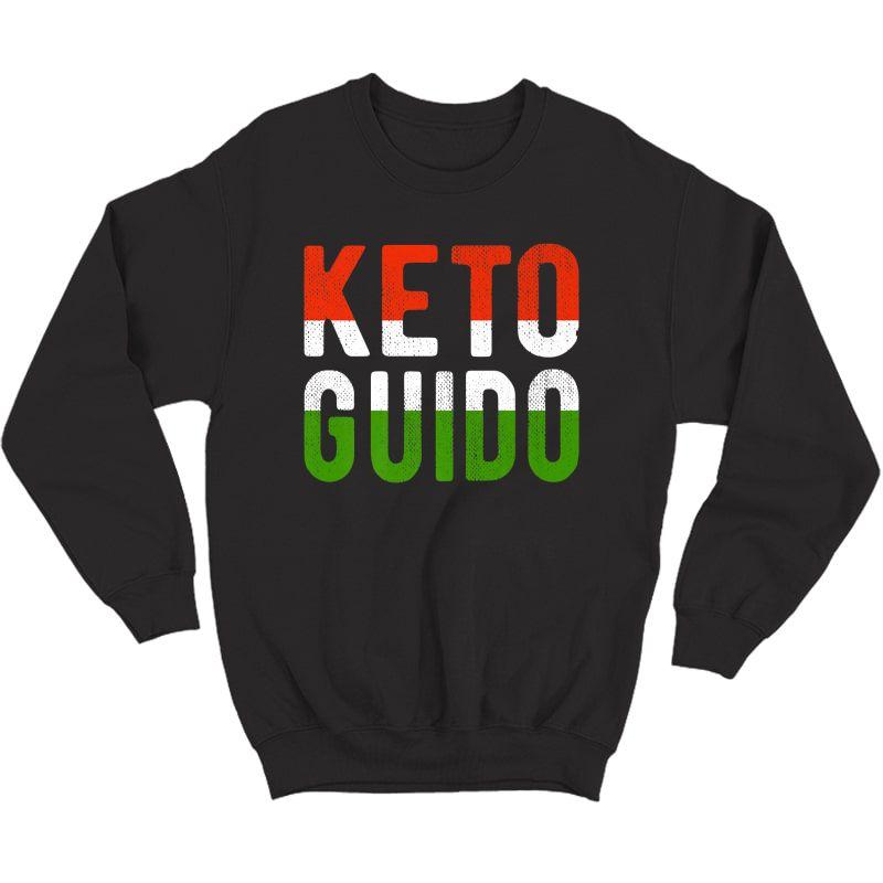 Keto Guido Italian Ness Weight Lifter Low Carb Diet Meme Premium T-shirt Crewneck Sweater