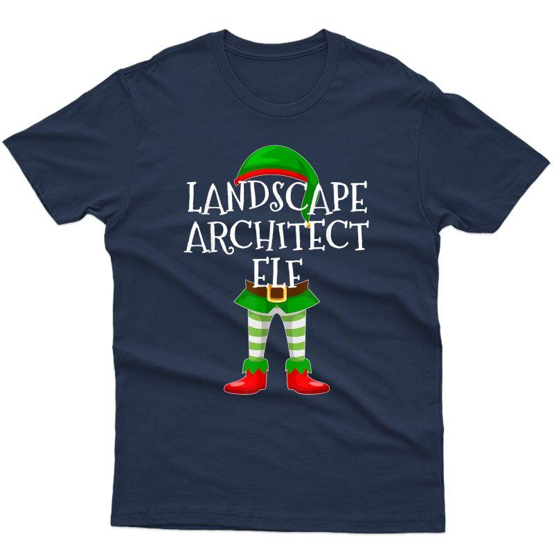 Landscape Architect Elf Matching Family Christmas Design T-shirt