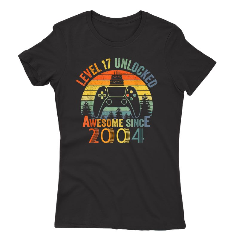 Level 17 Unlocked Video Gamer 17 Years Old 17 Birthday Gifts T-shirt