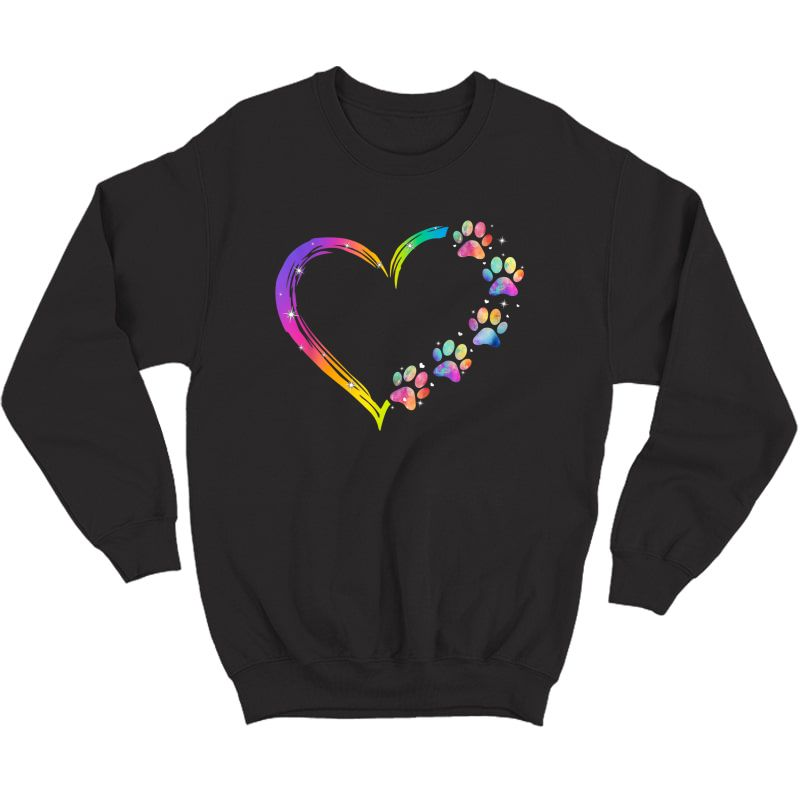 Lgbt Heart Rainbow Dog Paw Lgbt Pride Lgbt Supporter T-shirt Crewneck Sweater