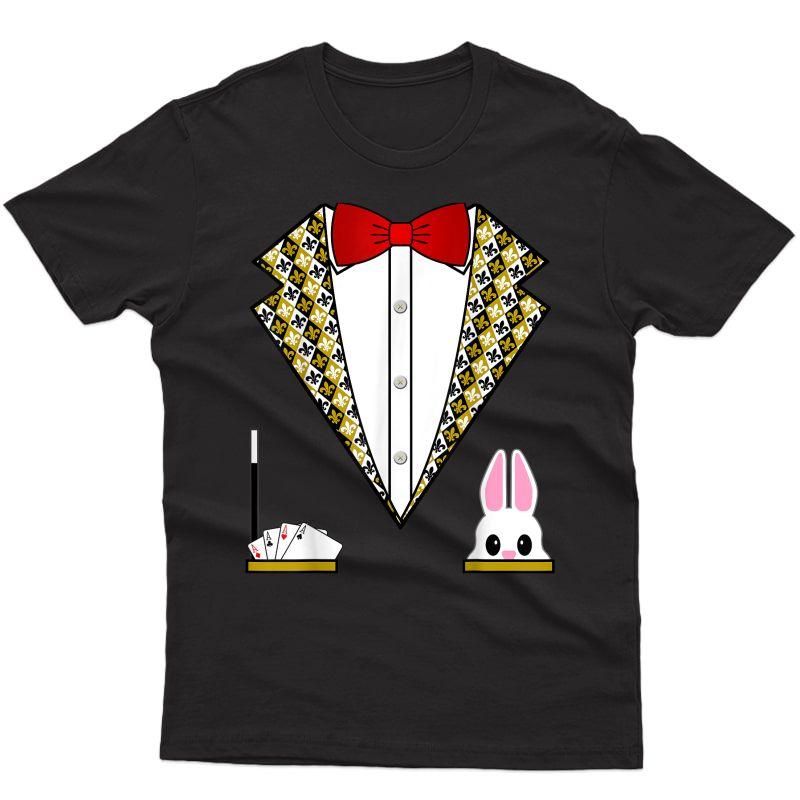 Magician Costume Shirt Funny Tuxedo Shirt For & Adults