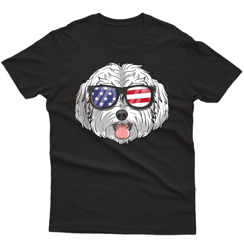 Maltipoo Dog Patriotic Usa 4th Of July American Cute Gift Tank Top Shirts