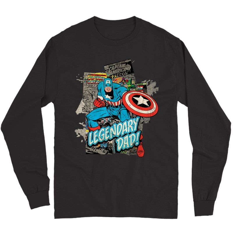 Marvel Captain America Legendary Dad Father's Day T-shirt Long Sleeve T-shirt