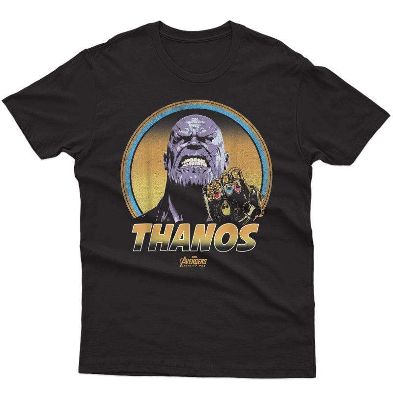 Marvel Infinity War Thanos Vintage Portrait Graphic T-shirt