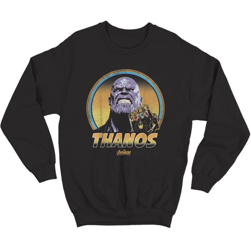 Marvel Infinity War Thanos Vintage Portrait Graphic T-shirt Crewneck Sweater