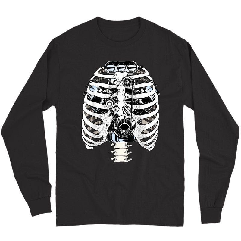 Mechanic Car Engineer Skeleton Mechanics T-shirt Long Sleeve T-shirt