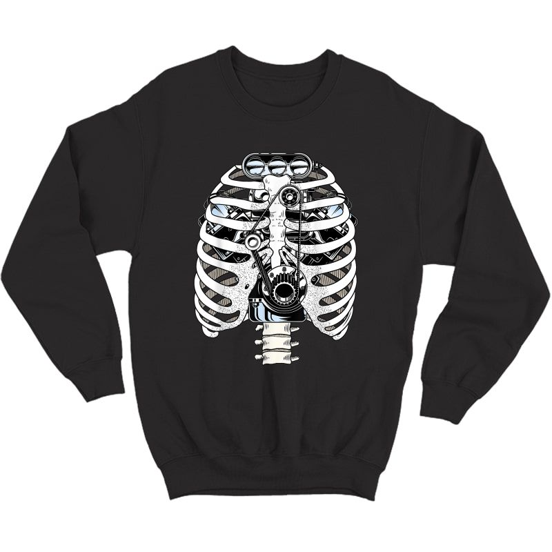 Mechanic Car Engineer Skeleton Mechanics T-shirt Crewneck Sweater