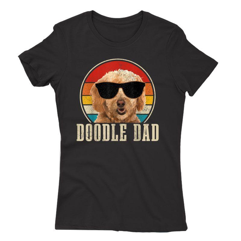 S Goldendoodle The Dood Dog Vintage Funny Golden Doodle Dad T-shirt