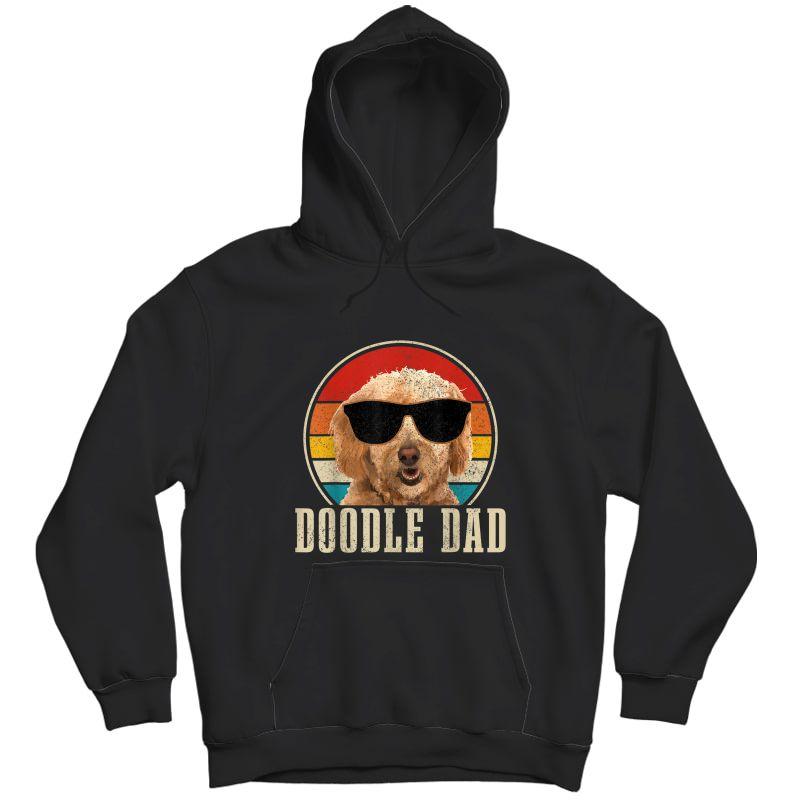 S Goldendoodle The Dood Dog Vintage Funny Golden Doodle Dad T-shirt Unisex Pullover Hoodie