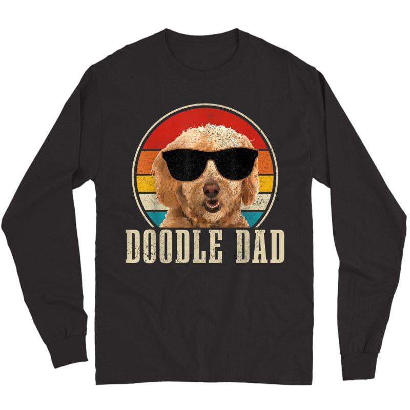S Goldendoodle The Dood Dog Vintage Funny Golden Doodle Dad T-shirt Long Sleeve T-shirt