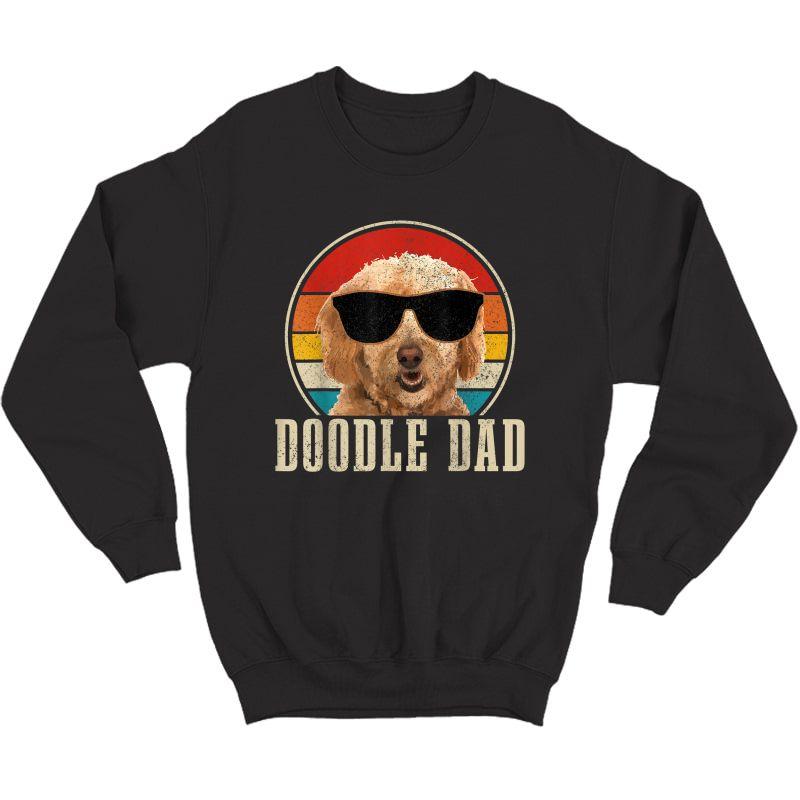 S Goldendoodle The Dood Dog Vintage Funny Golden Doodle Dad T-shirt Crewneck Sweater