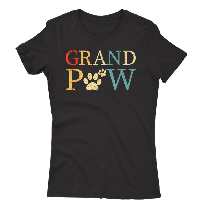 S Grandpaw Dog Funny Best Dog Lover Paw Papaw Grandparents T-shirt
