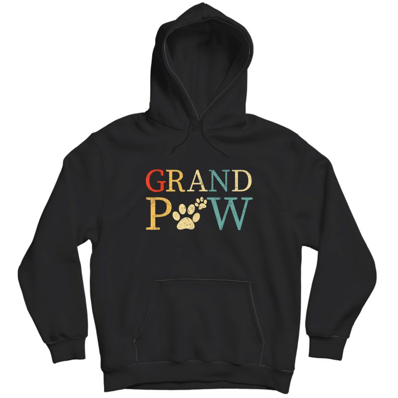 S Grandpaw Dog Funny Best Dog Lover Paw Papaw Grandparents T-shirt Unisex Pullover Hoodie
