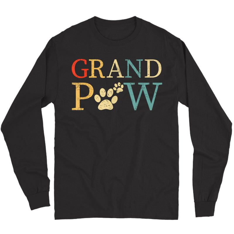 S Grandpaw Dog Funny Best Dog Lover Paw Papaw Grandparents T-shirt Long Sleeve T-shirt
