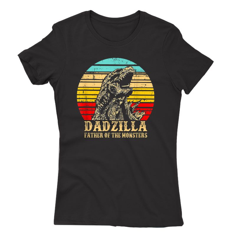 S Vintage Dadzilla Father Of The Monsters Shirt Funny T-shirt