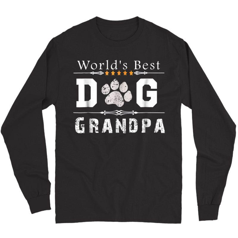 S World's Best Dog Grandpa T-shirt Long Sleeve T-shirt