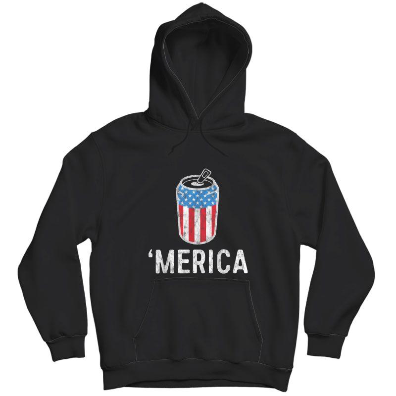 Merica Tank July Of 4th Beer Drinking Shirt America T-shirt Unisex Pullover Hoodie